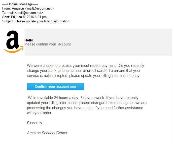 Email Verification Finances Your – Attacks Defense Personal Amazon Account Fake Own